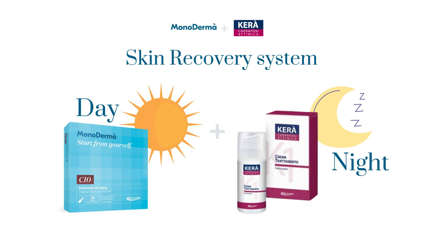 Ottobre è il mese della riparazione della pelle Giuliani ha sviluppato Skin Recovery System, un protocollo studiato per la riparazione dai danni del sole.